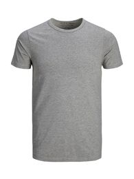 Basic o-neck tee s/s NOOS light grey melange
