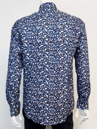 Shirt l/s french placket GINO MARCELLO navy