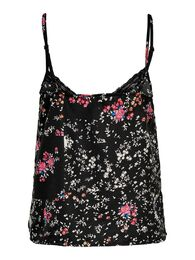 Becky strap lace singlet top ONLY black flower