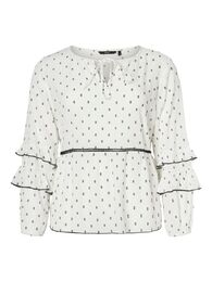 Comma ls blouse VERO MODA CURVE snow white