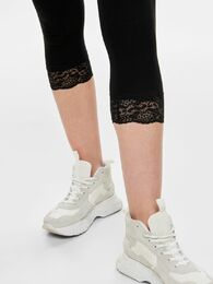 Live love 3/4 lace leggings ONLY black