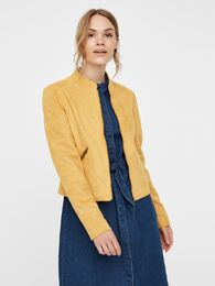 Summersiv faux suede short jacket VERO MODA amber gold
