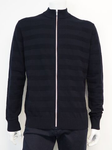 Striped cardigan BLACK BLUE navy