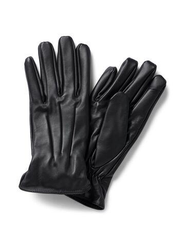 JACMontana leather gloves JACK&JONES black