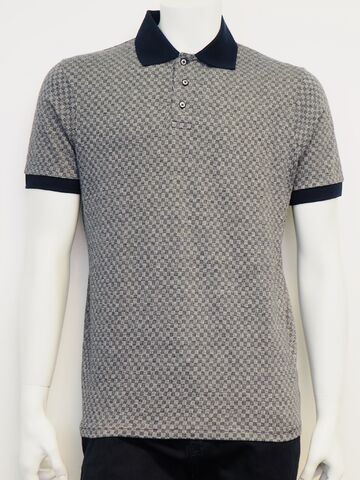 Check polo shirt GINO MARCELLO navy