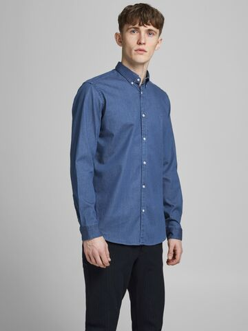 JPRBlalogo stretch denim l/s shirt JACK&JONES blue denim