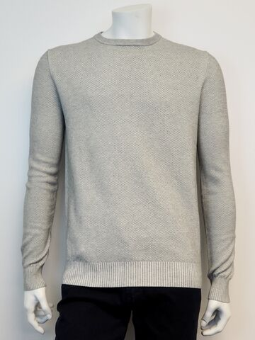 Crew neck knit GINO MARCELLO light grey