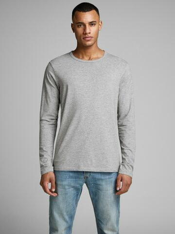 Basic o-neck tee l/s NOOS light grey melange