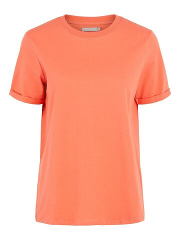 Ria ss fold up solid tee PIECES deep sea coral