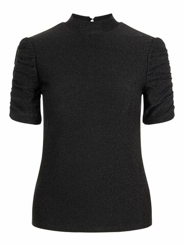 Rina puff sleeve top PIECES black