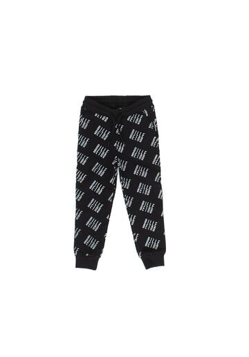 Kids Allover sweatpants BILLEBEINO black-white print