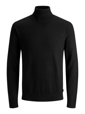 JJEEmil knit roll neck JACK&JONES black