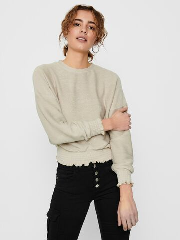 Jenka l/s o-neck top jrs ONLY ecru