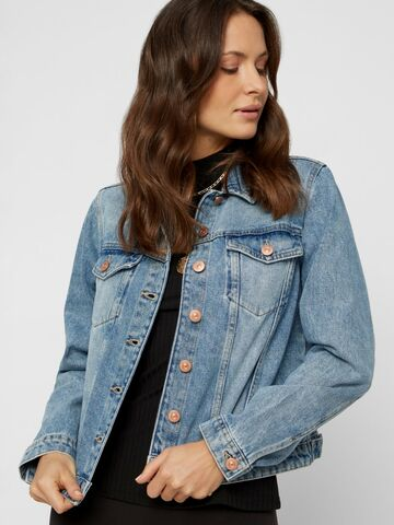 Lou l/s denim jacket PIECES blue denim