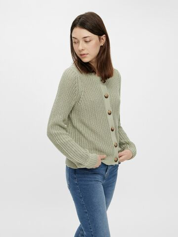 Petula ls knit cardigan PIECES desert sage