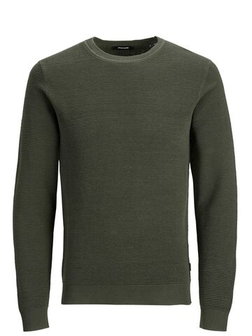 JJELiam knit crew neck JACK&JONES forest night