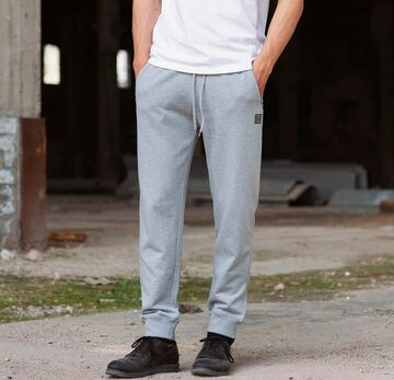 Sweatpant with small brick BILLEBEINO grey melange