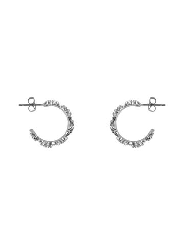 Lia creol earrings PIECES silver colour