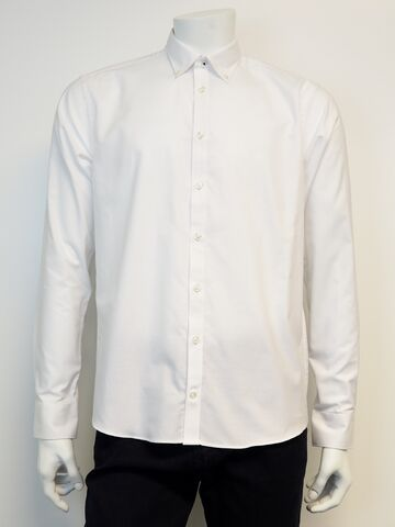 Shirt l/s tape inside placket SALT white