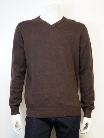 Hampton V knit wear PRE END bracken brown