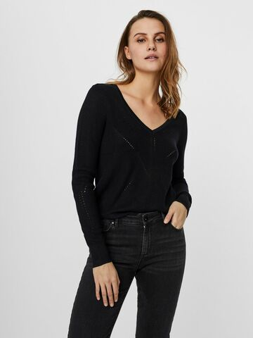 Newlexsun ls v-neck blouse VERO MODA black