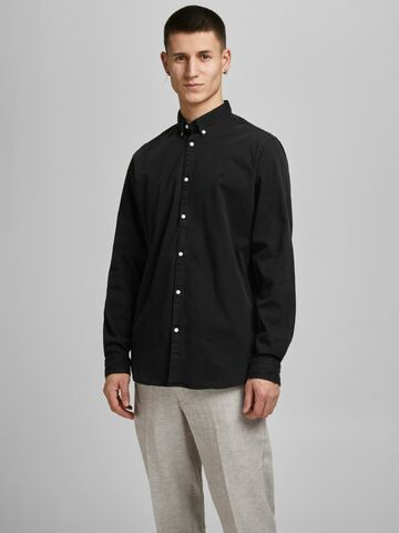 JPRBlalogo stretch denim l/s shirt JACK&JONES black denim