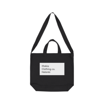 Pontus shoulder tote bag MAKIA black
