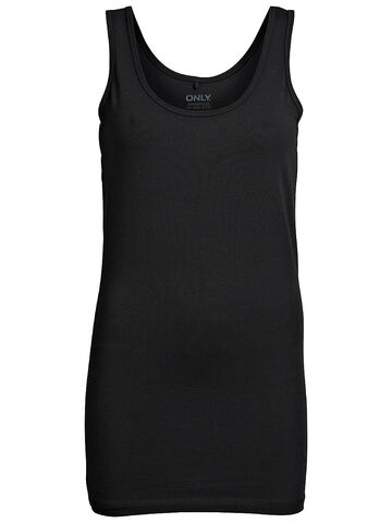 Live love long tank top ONLY black