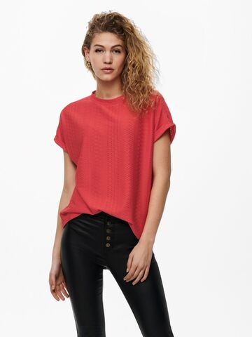 Lida s/s o-neck top jrs ONLY cayenne