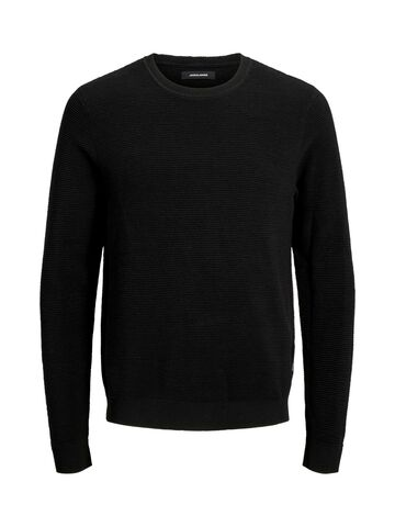 JJELiam knit crew neck JACK&JONES black