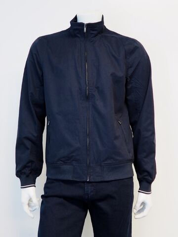 Soft short jacket BLACK BLUE navy