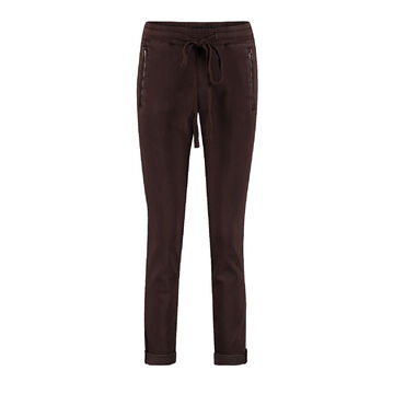 Tessy jog pants RED BUTTON chocolat