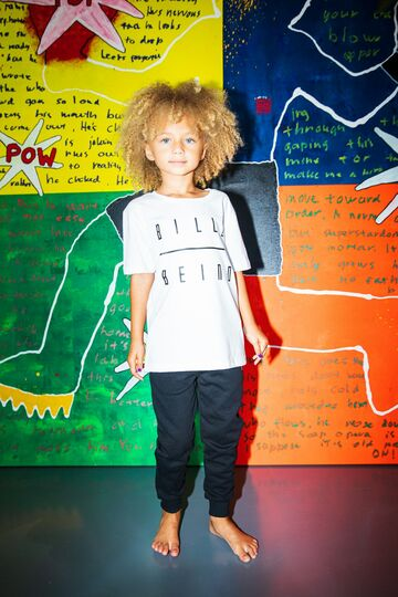 Kids t-shirt BILLEBEINO white-black print