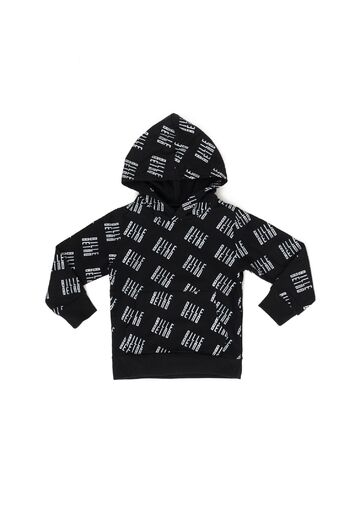 Kids Allover hoodie BILLEBEINO black-white print