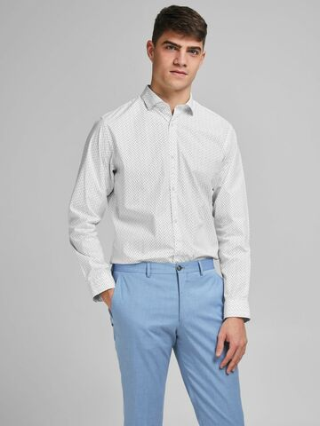 JPRBlackpool stretch l/s shirt JACK&JONES white