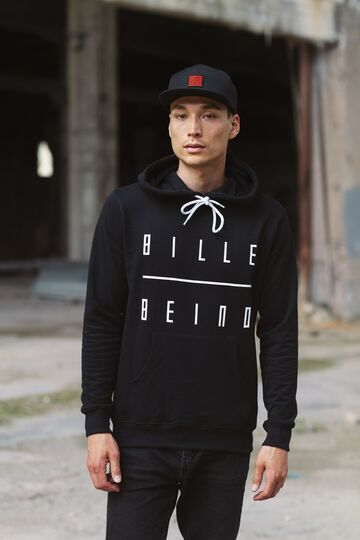 Original text hoodie BILLEBEINO black