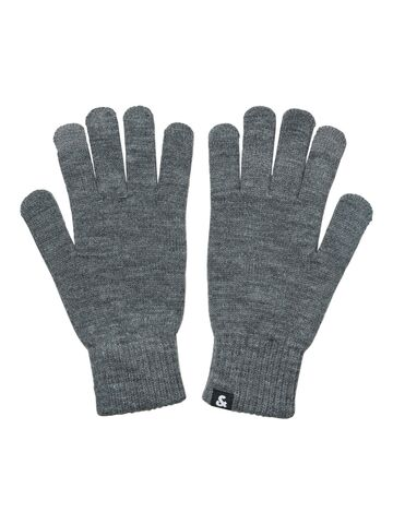JACBarry knitted gloves JACK&JONES grey melange ONE SIZE