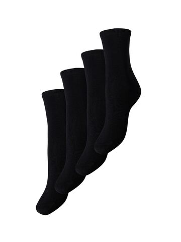 Elisa 4-pack socks PIECES black