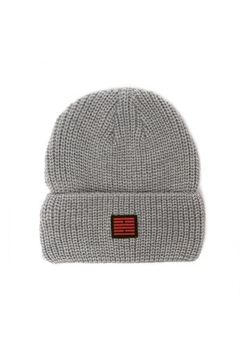 Fishermans rib knit beanie BILLEBEINO grey melange