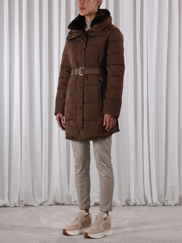 Blush long padded coat RINO&PELLE cashew