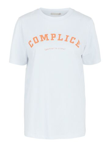 Lanea ss print tee PIECES bright white complice