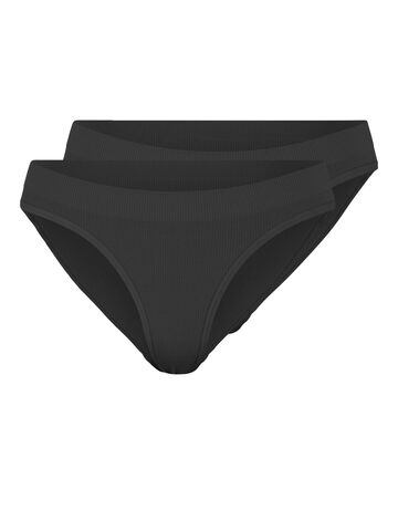 Symmi rib brief 2-pack PIECES black