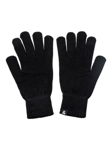 JACBarry knitted gloves JACK&JONES black ONE SIZE