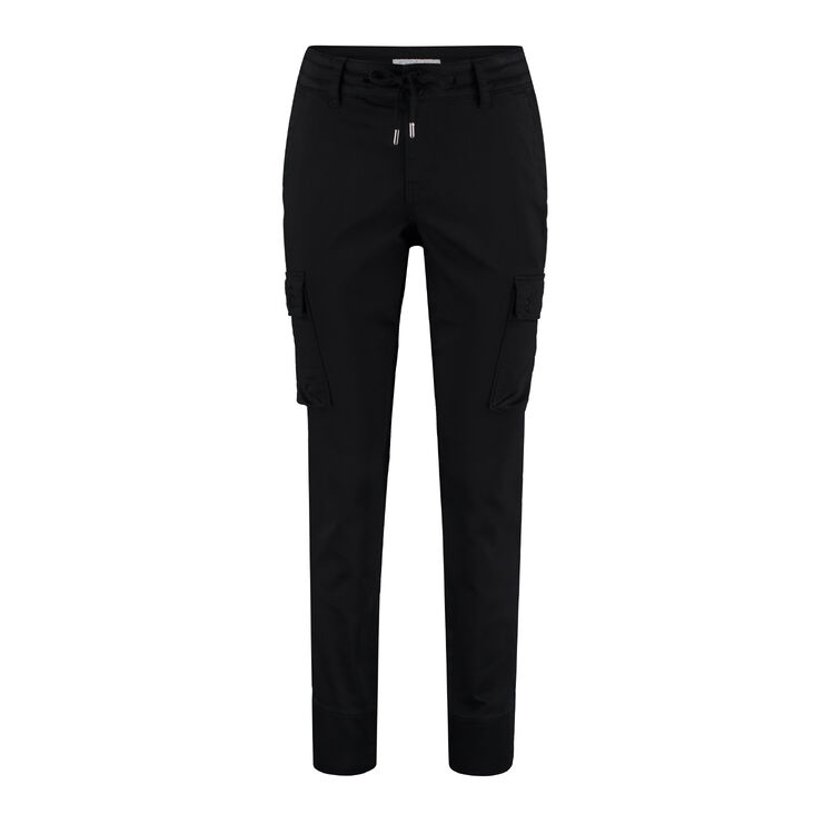 Combat jog pants RED BUTTON black