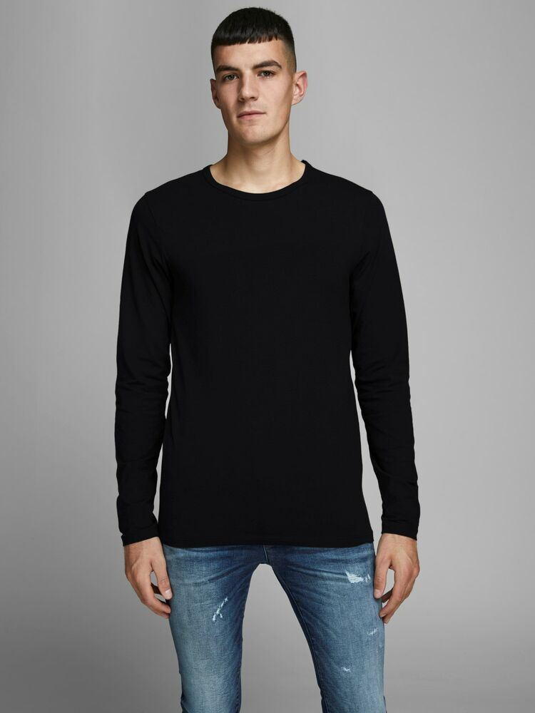 Basic o-neck tee l/s NOOS black