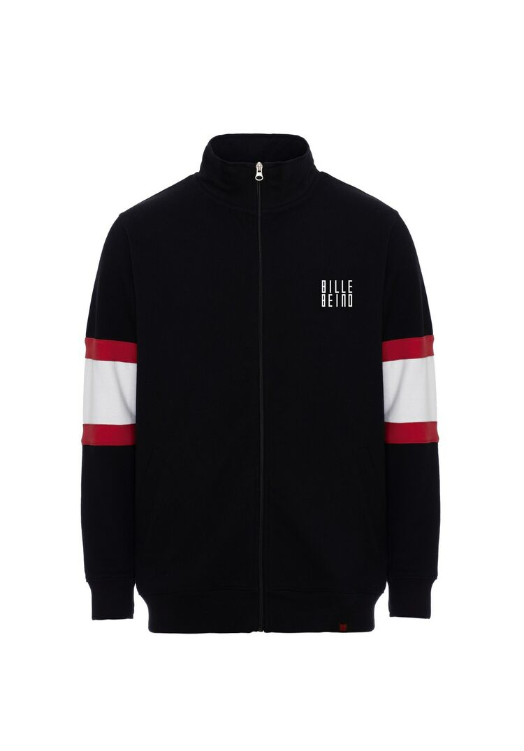 Umpire sweater jacket BILLEBEINO black-red-white