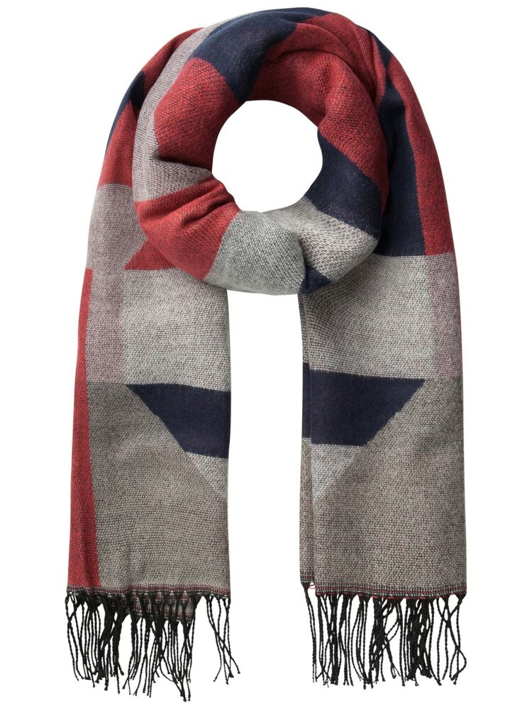 Daste long scarf PIECES cranberry