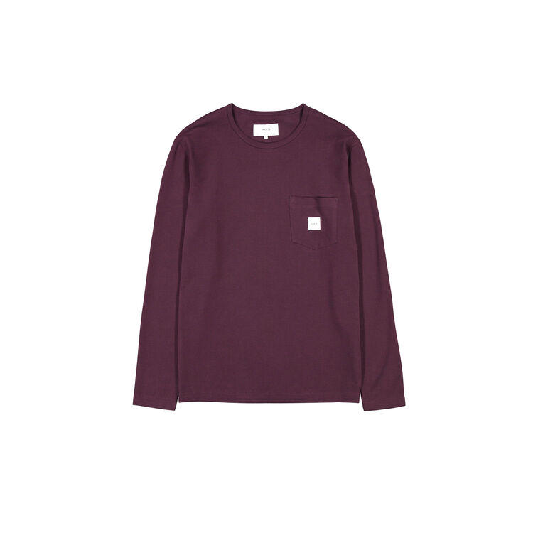Square pocket long sleeve MAKIA wine