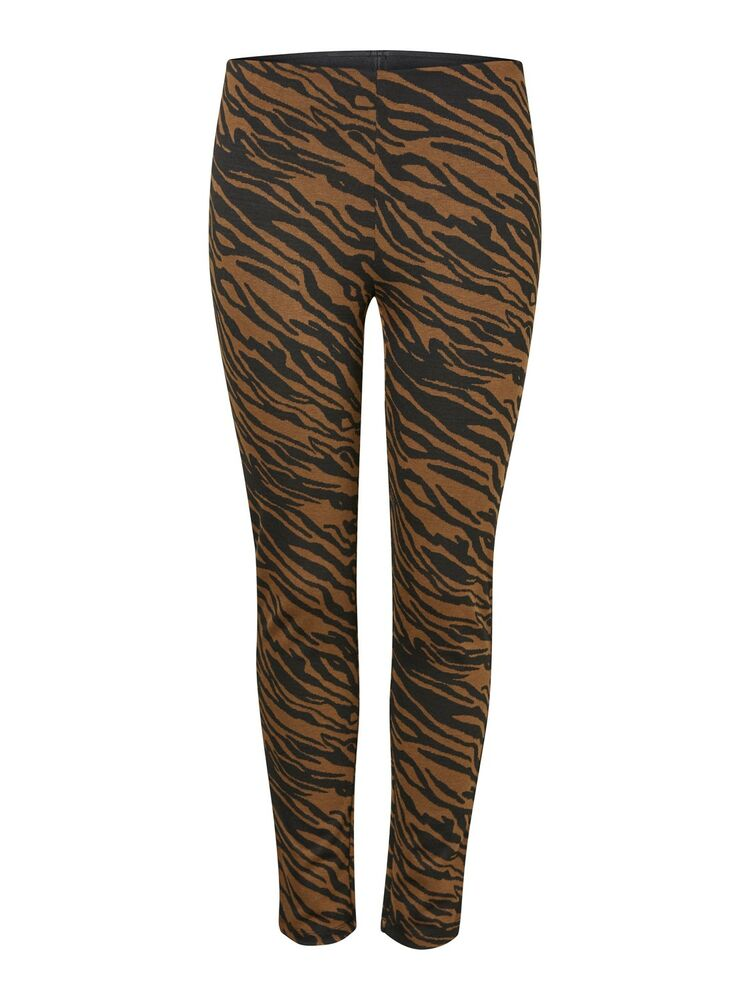 Ibrea mw jacquard leggings PIECES black-brown