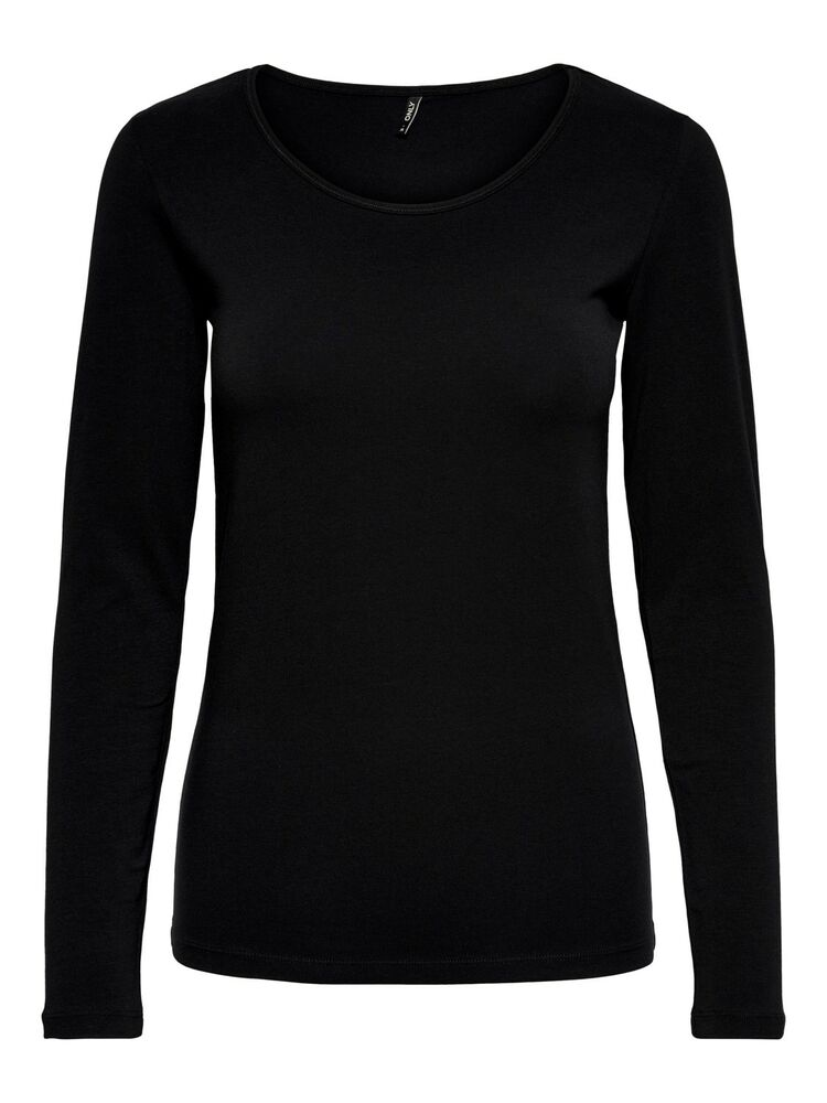 Live love l/s o-neck ONLY black
